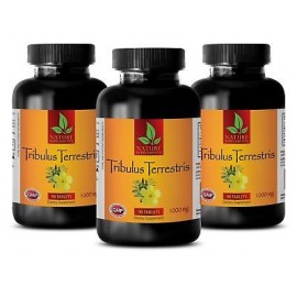 Tribulus terrestris Extracto 1000mg - Booster Testosterona - Male aguante - 3 Bot