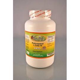 Policosanol - CoQ-10 ~ 100 cápsulas colesterol antienvejecimiento la energía. Hecho en EE.UU