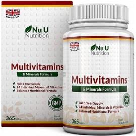 MULTIVITAMINS AND MINERALS FORMULA 365 TABLETAS