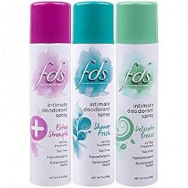 FDS desodorante íntimo spray todo el día Frescura paquete de la variedad Ducha fresca y delicada brisa 2 botellas onza 3 Conde