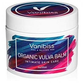 Vulva orgánica bálsamo Crema Crema hidratante vaginal Cuidado de la piel íntimo y Menopausia soporte y alivio por Vanibiss-se