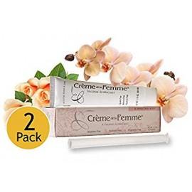 Crème de La Femme 2-Pack sequedad vaginal Crema Creado por un doctor de la mujer la menopausia natural Sequedad Remedio Lubrica