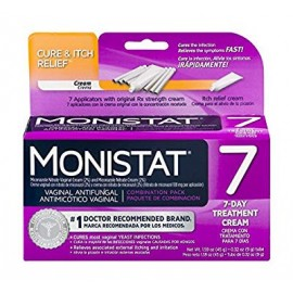 Monistat 7-Day Vaginal Antifungal | Cure - Itch Relief Combination Pack | 7 Applicators Original Rx Cream and Itch Relief Cream