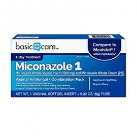 Paquete Combinación de atención básica de miconazol 1 vaginales antihongos