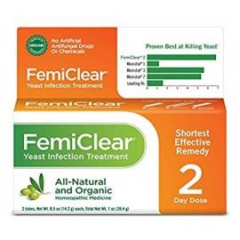 Tratamiento de la infección por levaduras Orgánica FemiClear totalmente natural y