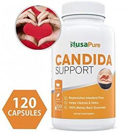 Candida Cleanse (no-GMO) 120 Cápsulas- Doble la competición - Potente tratamiento de infección de levadura con ácido capríl