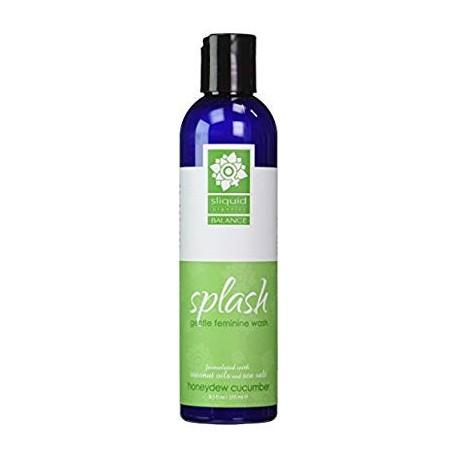 Sliquid Organics Splash Equilibrio Femenino suave Lavar [Melón Pepino]- Tamaño 8.5 Oz.