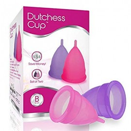 Dutchess Menstrual Authentic Original Cups Set of 2 with Free Bags No - Small (B) - No 1 Economical Feminine Alternative