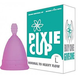 Nº 1 para más cómodo copa menstrual y Mejor Remoción Stem - Cada Copa comprado uno se le da a una mujer que necesite- (Grand