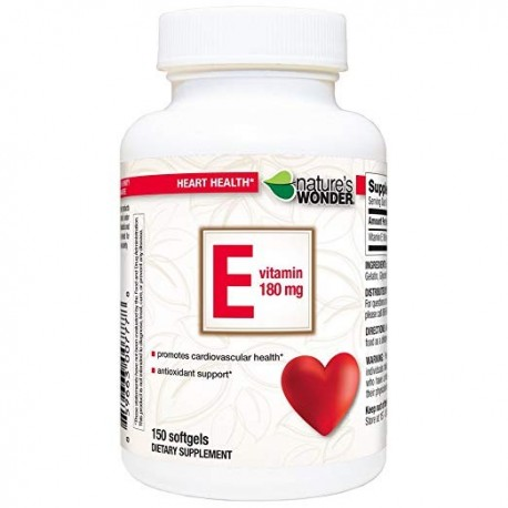 NATURE'S WONDER VITAMIN E 180MG (400IU) SOFT GELS 150 CAPS