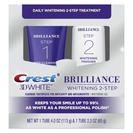 Crest 3D White Brilliance Sistema de pasta de dientes y gel blanqueador 4.0oz y 2.3oz