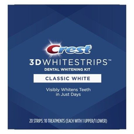 Crest 3D Whitestrips Kit de Blanqueamiento Dental Blanco Clásico 10 Tratamientos