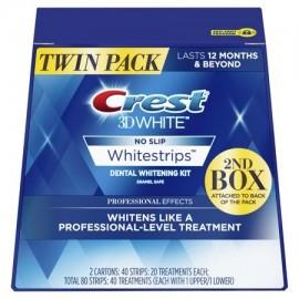 Kit de tiras dentales Crest 3D Professional Effects 40 tratamientos paquete doble