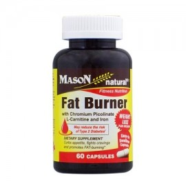 Mason Vitamins Fat Burner With Chromium Picolinate L-Canitine And Iron Ctules 60 Ct