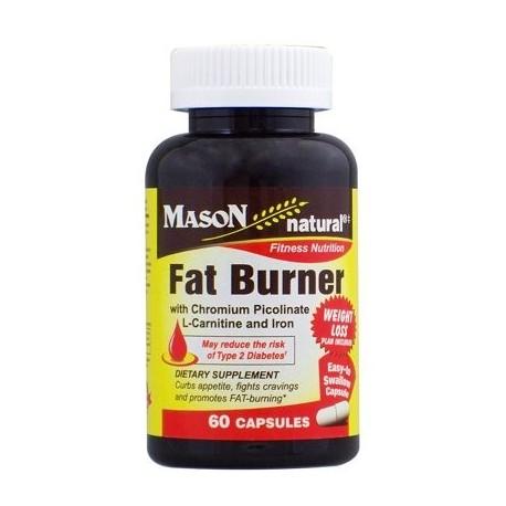 Mason Vitamins Fat Burner With Chromium Picolinate L-Canitine And Iron Ctules 60 Ct