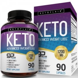 NutriFlair Keto Diet Pills 1200mg 90 Capsules - Advanced Weight Loss Ketosis Supplement - BHB Salts (beta hydroxybutyrate)
