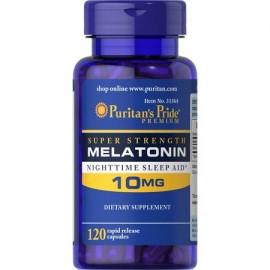 Puritans Pride Súper Fuerza de liberación rápida cápsulas de melatonina 10 mg 120 Count