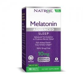 Natrol avanzada del sueño Melatonina 10 mg de liberación programada de 100 Conde