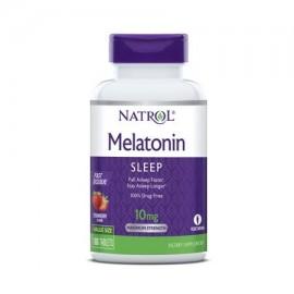 La melatonina Natrol Fast comprimidos que se disuelven el sabor de fresa 10 mg 100 Conde