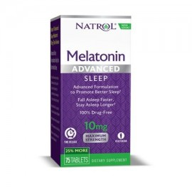 Natrol avanzada del sueño melatonina comprimidos 10 mg 75 Conde