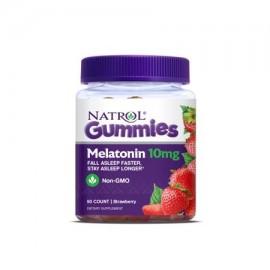 Natrol melatonina Gomitas sabor a fresa 10 mg 90 Conteo