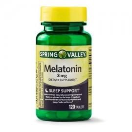 (2 Pack) Spring Valley del sueño de apoyo de melatonina Tablets 3 mg 120 Caps