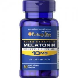 Puritans Pride Súper Fuerza Melatonina 10 mg cápsulas de liberación rápida 60Count