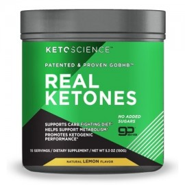 Keto Science Real Ketones Powder Dietary Supplement Lemon 5.3 oz. 15 Servings