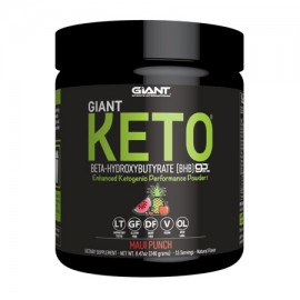 Giant Keto Exogenous Ketone Powder for Ketogenic Diet Support Maui Punch Flavor 15 Servings