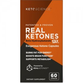 Keto Science Real Ketones Caps Dietary Supplement 60 Capsules 15 Servings