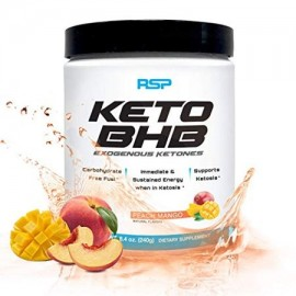 RSP Keto BHB Exogenous Ketones Energy Boost Focus Powder Peach Mango 16s