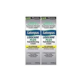 Salonpas LIDOCAINE PLUS 90 Gramoss Crema Analgésica- Máxima potencia de 4% de lidocaína para aliviar el dolor (2 Cajas)