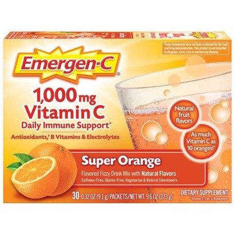 Emergen-C 1000mg Vitamin C Powder with Antioxidants B Vitamins and Electrolytes for Immune Support Caffeine Free Vitamin C