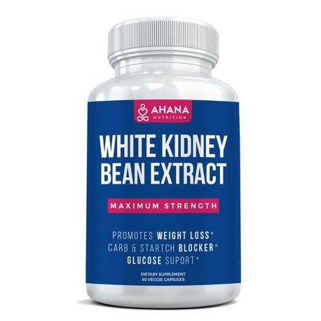 PURE 100% WHITE KIDNEY BEAN EXTRACT 60 CAPSULES