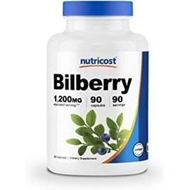 Capsulas de arandanos Nutricost 1200mg 90 capsulas vegetales Sin gluten y sin OGM