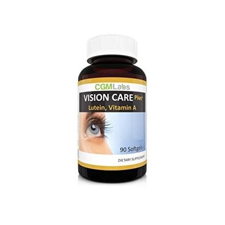 CGMLabs Vision Care Luteina 40mg Zeaxantina Vitamina A Extracto de Arandano 90 Softgel