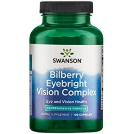 Swanson Bilberry Eyebright Vision Eye Health Complex Suplemento herbal 100 Capsulas Caps