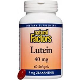 Factores naturales luteina 40 mg 60 capsulas blandas apoyo antioxidante para ojos y piel sanos con zeaxantina 60 dosis
