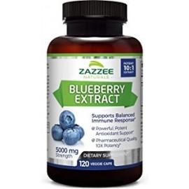 Extracto de arandano de fruta entera Zazzee 5000 mg de fuerza 120 capsulas vegetales extracto potente 101 suministro para 4