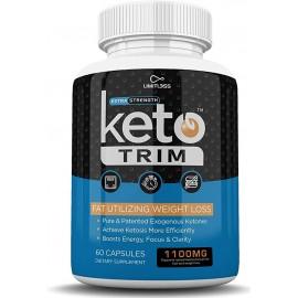 Keto Trim Pills Perdida de Peso Utlizante de Grasa Laboratorios Limitados 1100MG 60 Caps