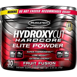 Hydroxycut Hardcore Elite Powder Frutas Fusion 30 Porciones 72 Gramos