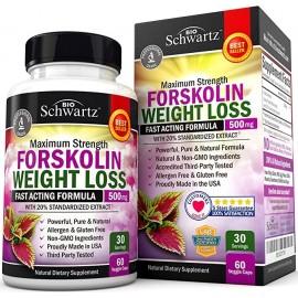 Extracto de forskolina para perdida de peso Pastillas de Forskolin 60 Caps