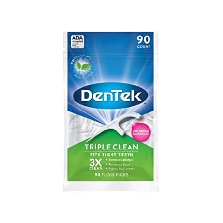 DenTek Triple Limpio Hilo Dental Sin garantia de rotura 90 puntos