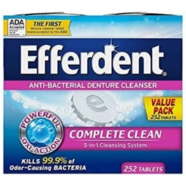 Efferdent Denture Cleanser Tablets Complete Clean 252 Tablets