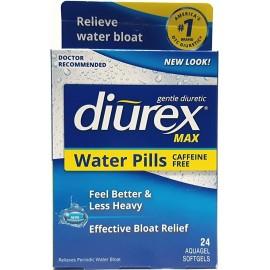 DIUREX MAX WATER CAPLETS CAFFEINE FREE 24 CAPLETS PACK OF 4