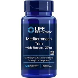 LIFE EXTENSION MEDITERRANEAN TRIM WITH SINETROL XPUR 60 CAPSULAS VEGETALES
