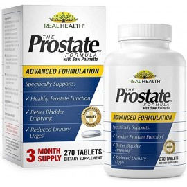 REAL HEALTH LABORATORIES THE PROSTATE FORMULA WITH SAW PALMETTO 270 COMPRIMIDOS