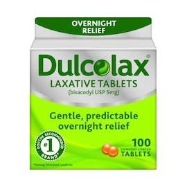 DULCOLAX LAXATIVE TABLETS - LAXANTE MUY EFECTIVO (100 CAPSULAS)