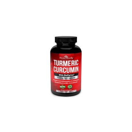 TURMERIC CUCRCUMIN WITH BIOPERINE BLACK PEPPER EXTRACT 750MG (120 CAPSULAS)