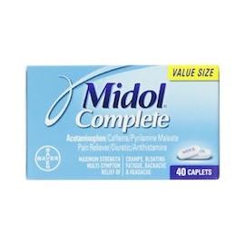 MIDOL COMPLETE - ALIVIAR DOLORES PREMENSTRUALES Y DE REGLA (40 CÁPSULAS)